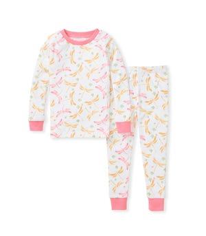 Dragonfly Life Snug Fit Organic Toddler Pajamas Strawberry Lemonade 2 Toddler