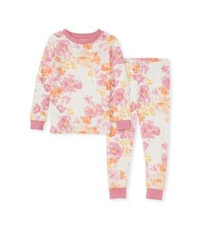 Sunset Bloom Organic Toddler Snug Fit Pajamas