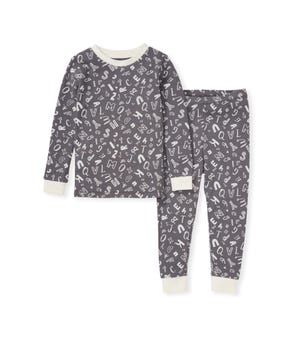 Wacky Alphabet Organic Toddler Snug Fit Pajamas
