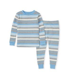 Long Road Stripe Organic Toddler Snug  Fit Pajamas