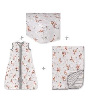 Dasher & Dancer Organic Cotton Baby Bedding Bundle