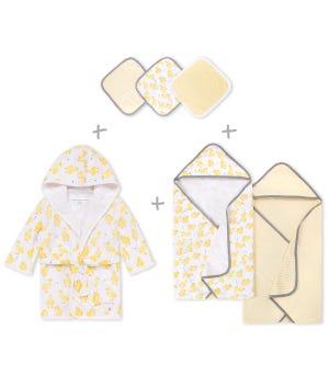 Little Ducks Organic Cotton Baby Bath Bundle