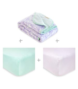 Lost in Lilac Organic Cotton Baby Bedding Bundle