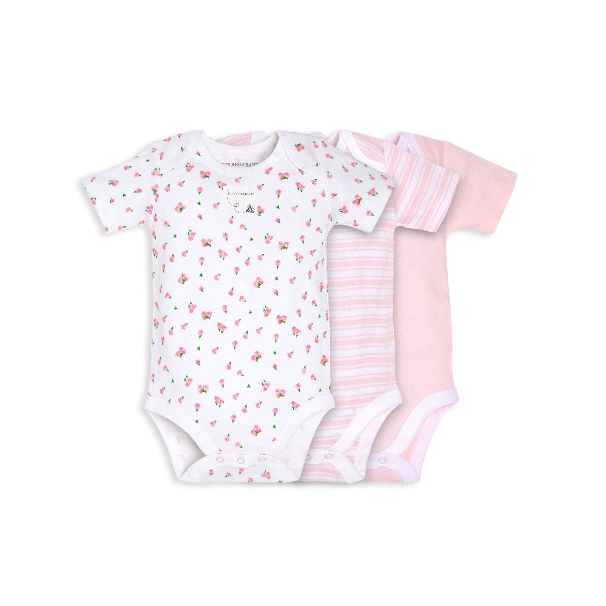 Organic Cotton 3 Pack Tossed Tulip Bodysuits