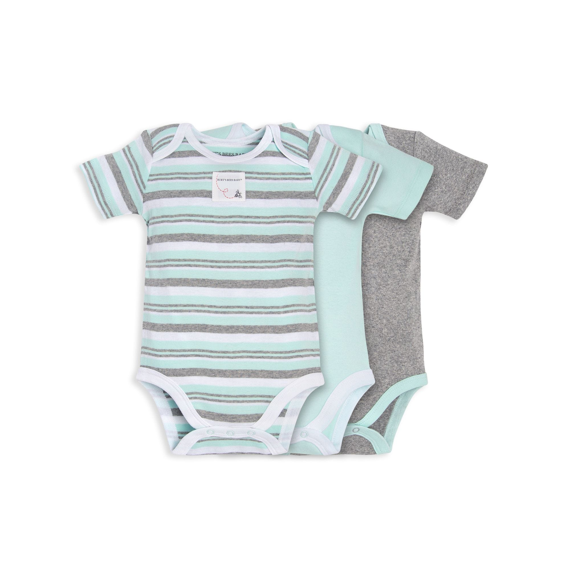 Organic Cotton 3 Pack Sixties Stripe Bodysuits