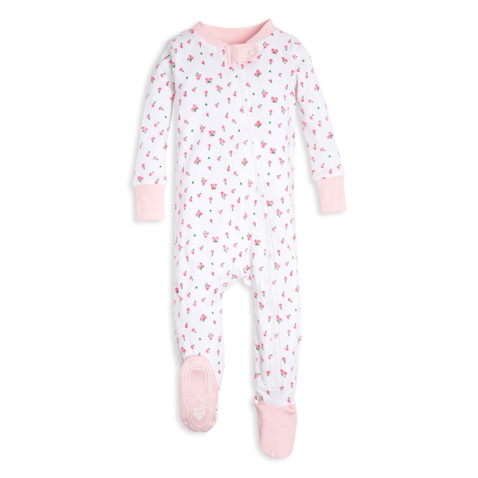 6d07db41e66e Tossed Tulip Organic Baby Zip Up Footed Pajamas