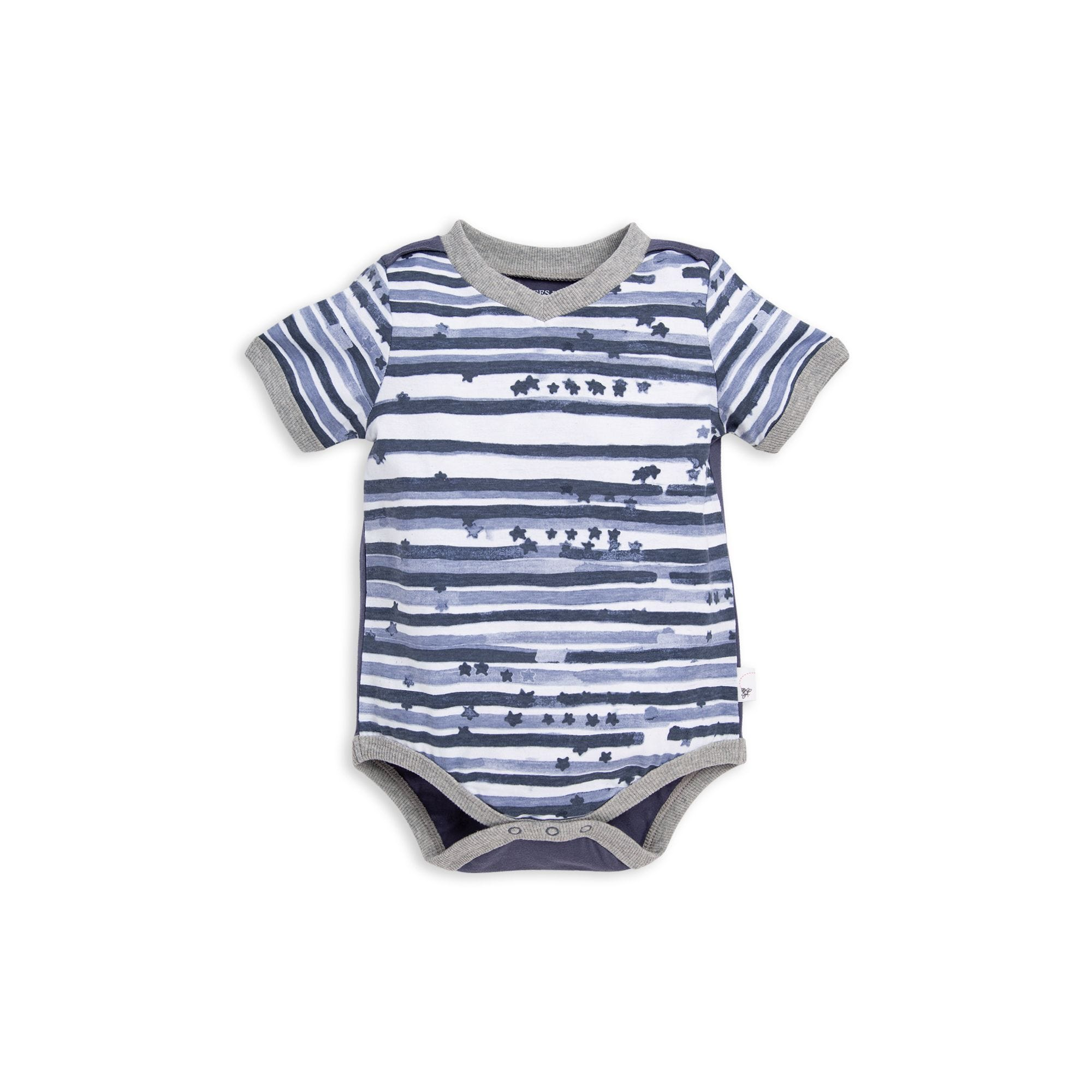 c38ce858f Starry Stripes Organic Baby Boy Bodysuit
