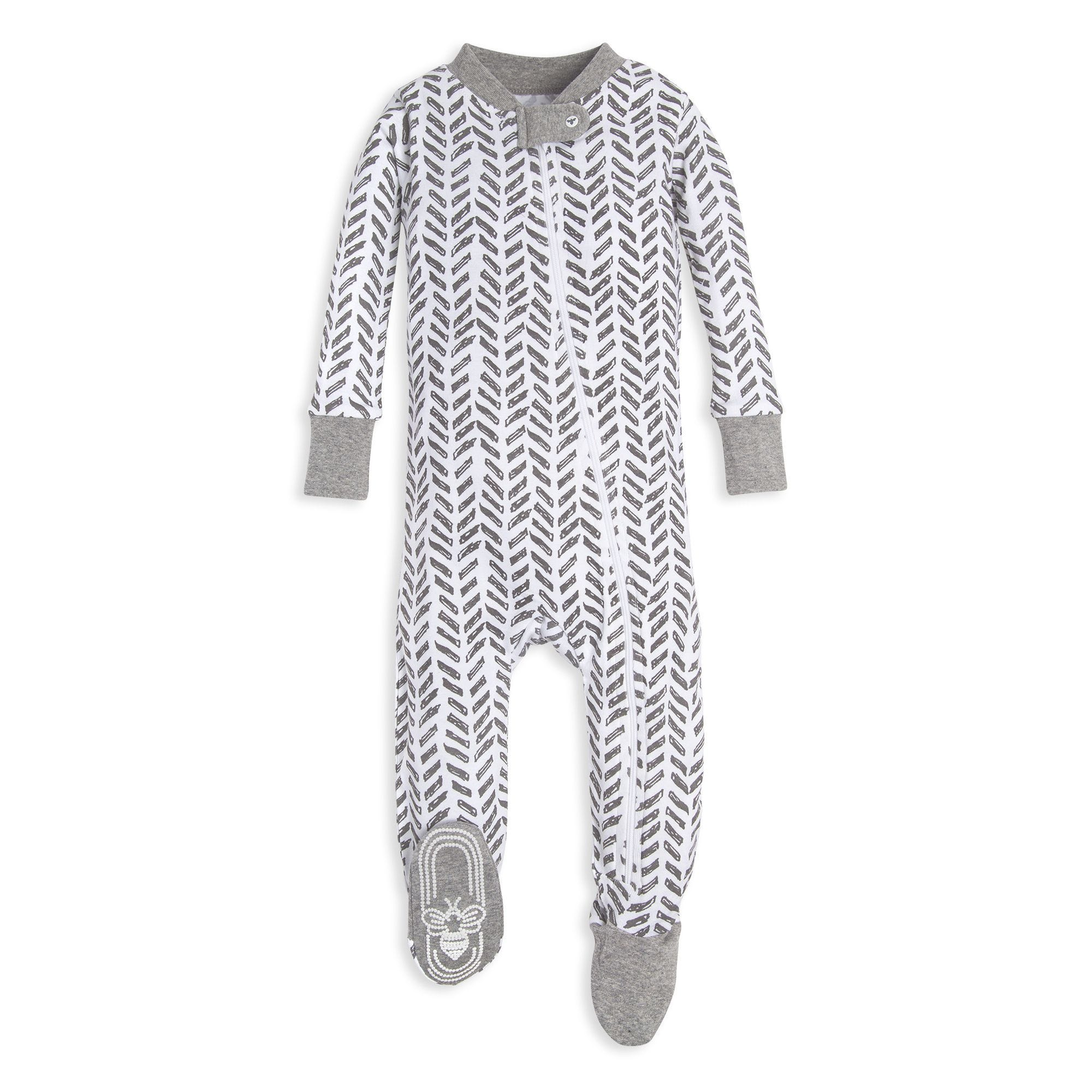 b8df12a4ce4f Guide the Way Organic Baby Zip Up Footed Pajamas