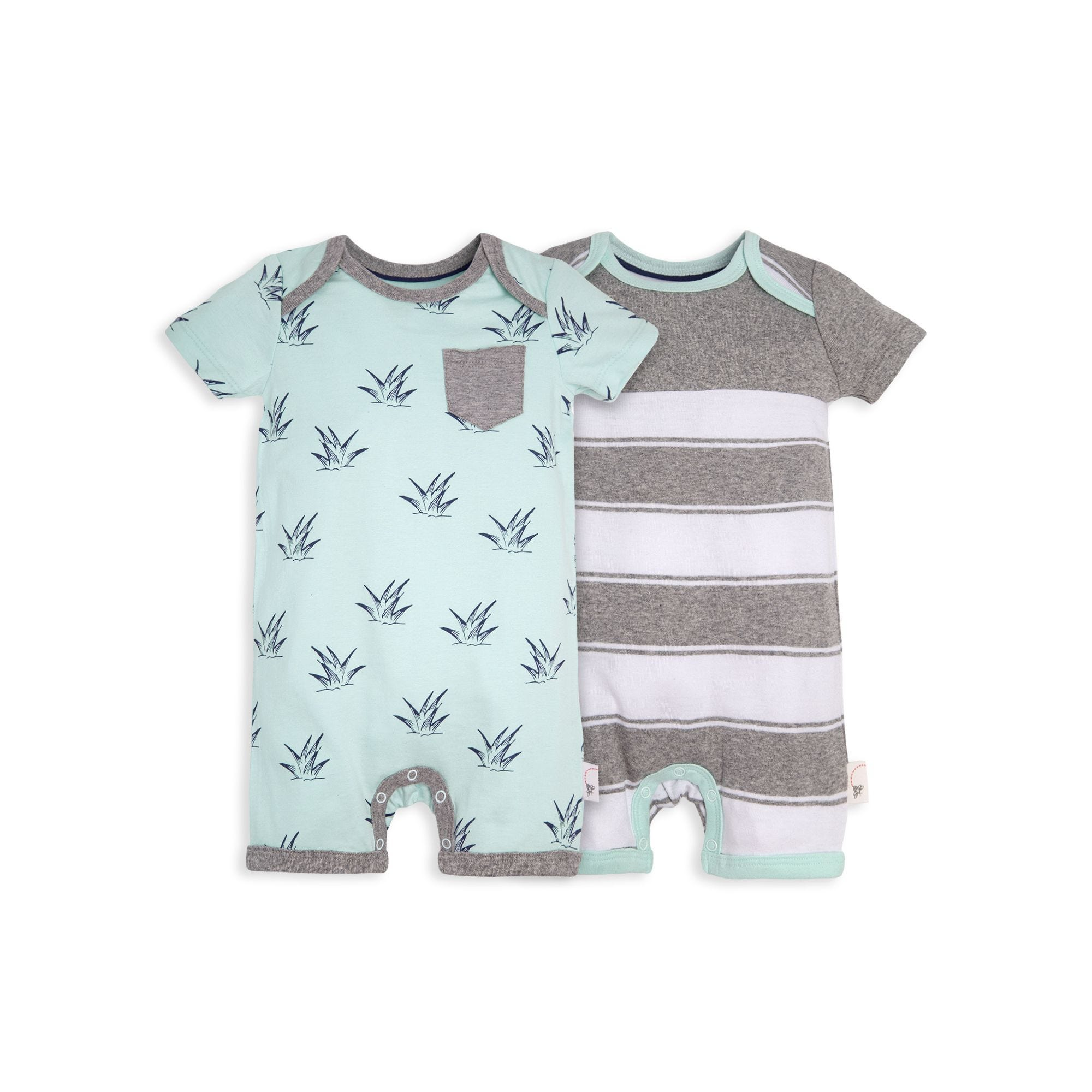 b8f898209 Sprouts and Stripes Organic Baby Romper 2 Pack