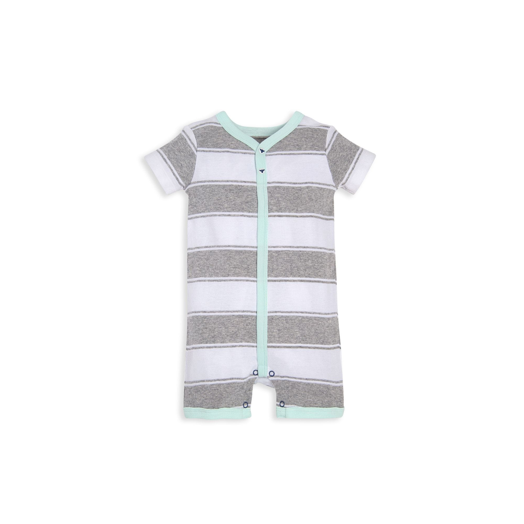 068c15cb5660 Organic Cotton 2 Pack Rugby Peace Stripe Shortall Set