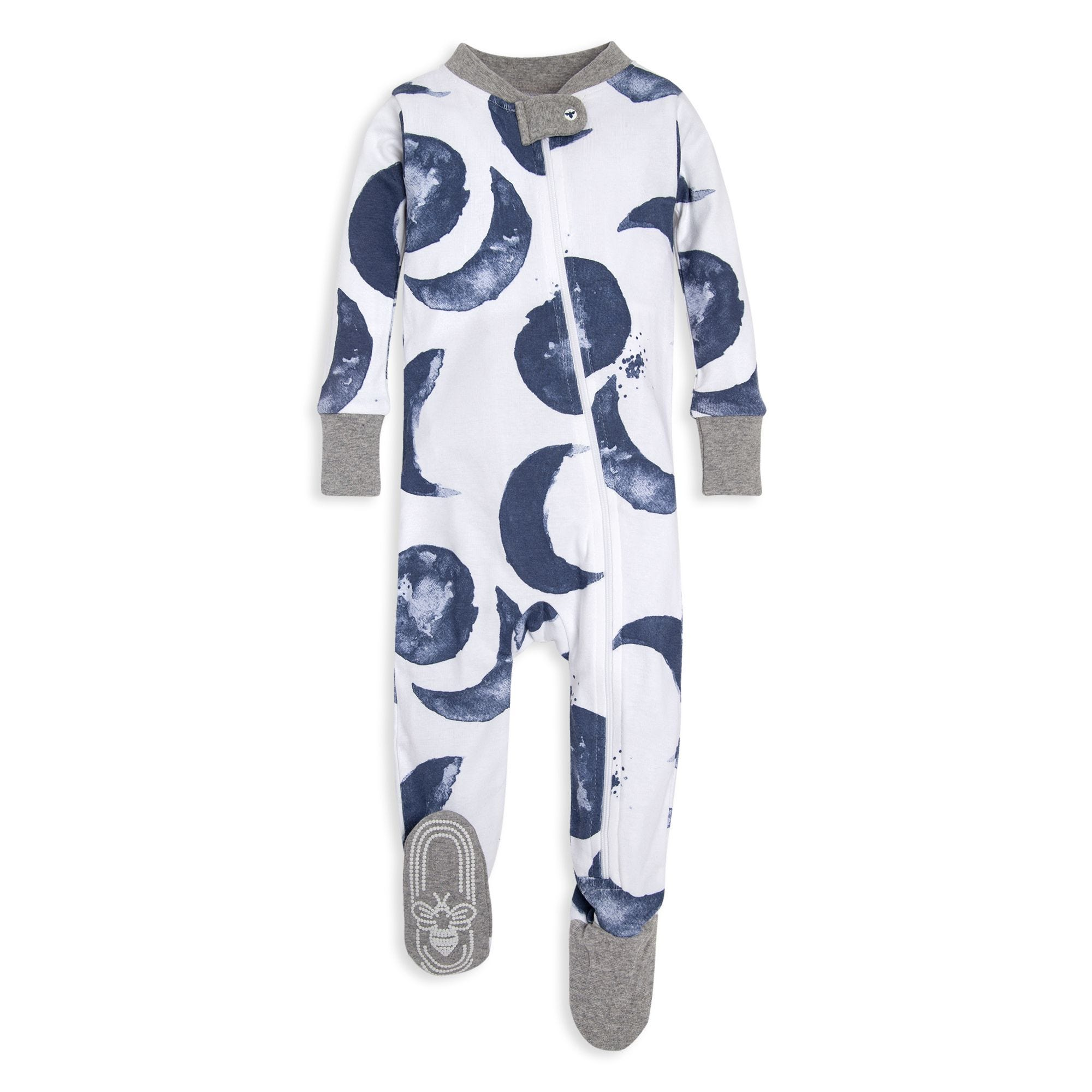 ba05aa4fbff6 Watercolor Moons Organic Baby Zip-up Footed Pajamas