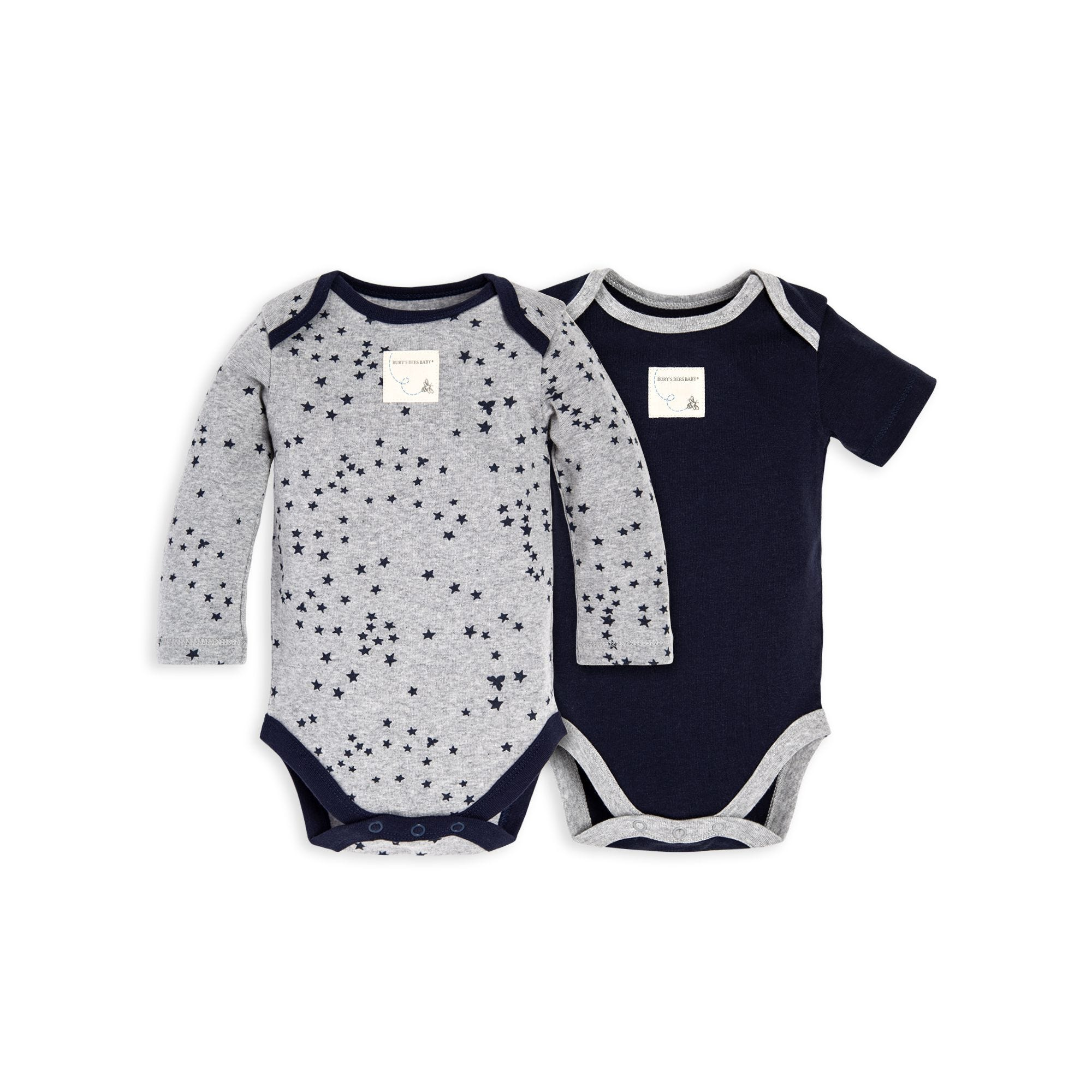 Set Of 2 Twinkle Bee Organic Baby Bodysuits