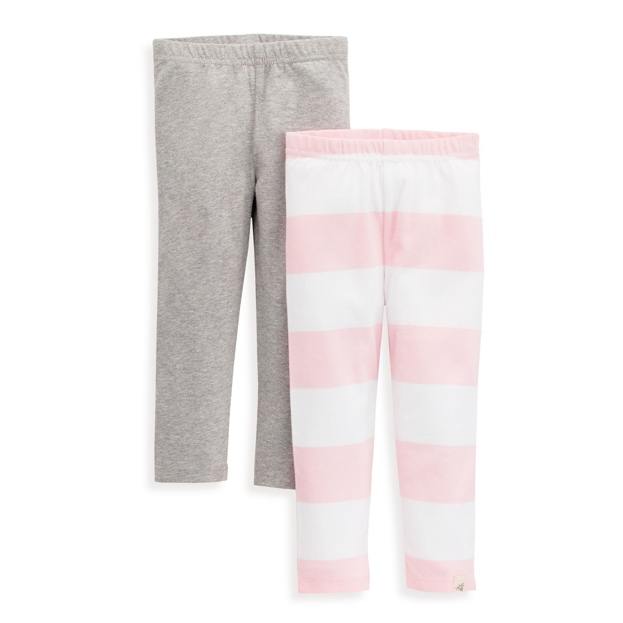 caf8271f36a05 2 Pack Organic Toddler Girls Rugby Stripe Legging