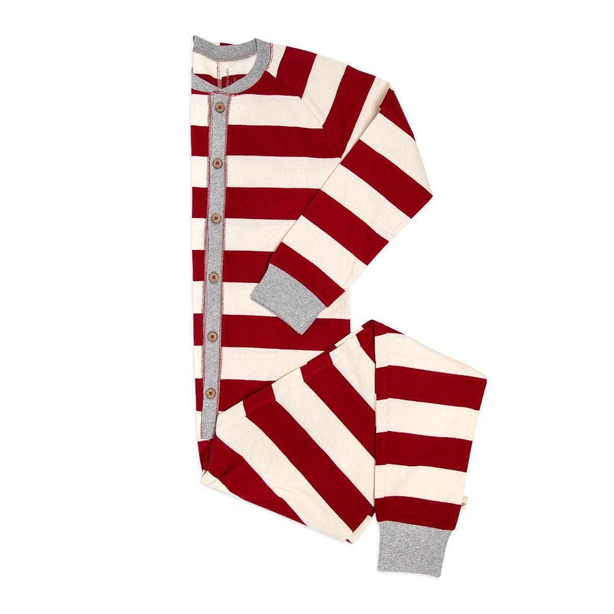 Rugby Stripe Organic Adult Mens Holiday Matching One Piece Jumpsuit 1ff06ce74