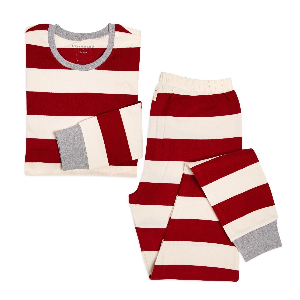 17b7f437a Rugby Stripe Organic Adult Womens Holiday Matching Pajamas