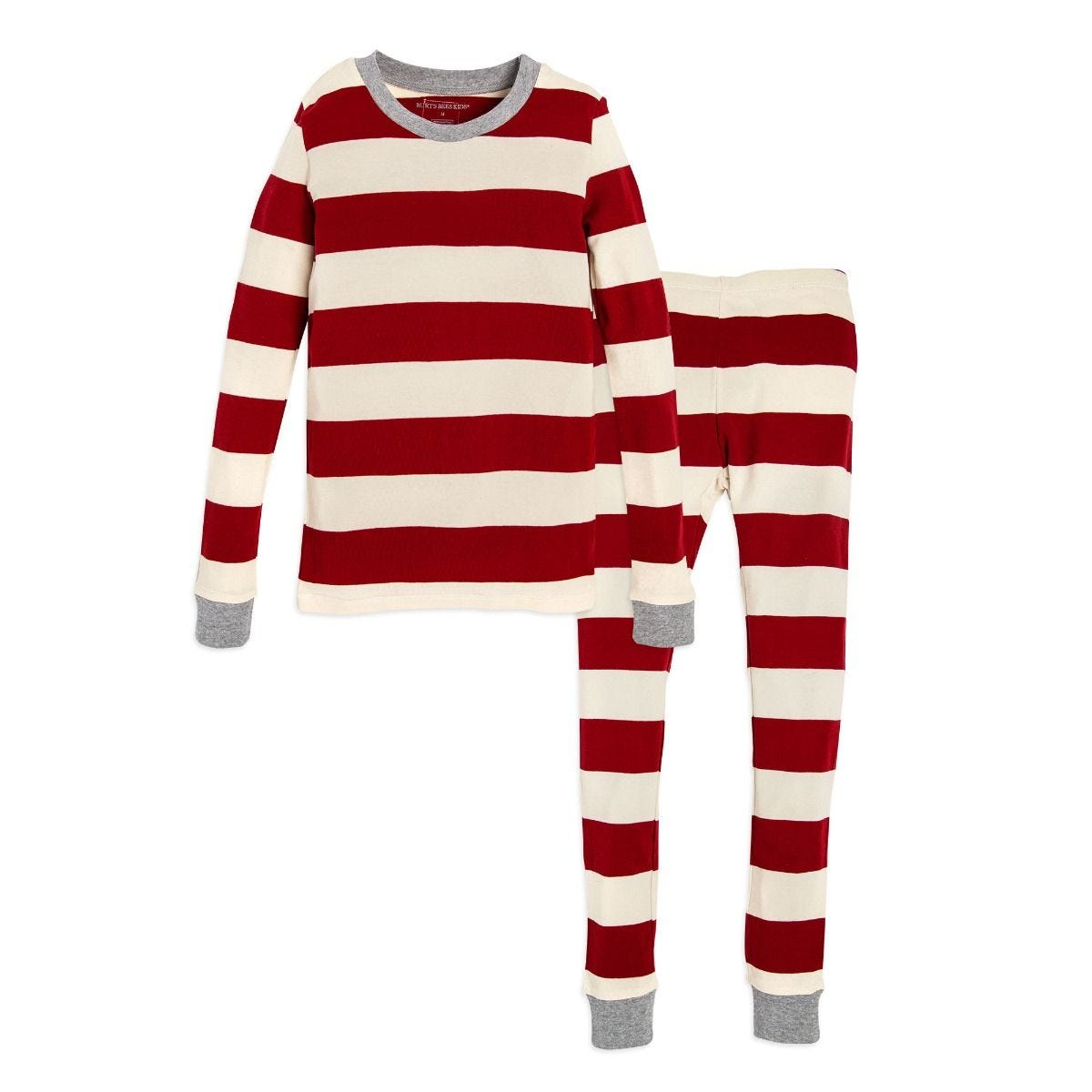 f7bcc2499 Rugby Stripe Organic Big Kids Holiday Matching Pajamas
