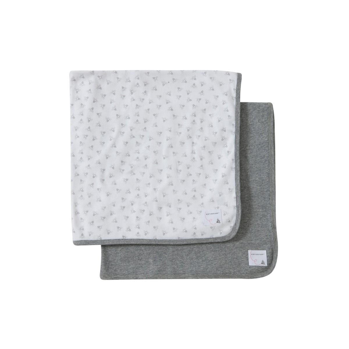 aba65873e Bee Essentials Single Ply Organic Baby Blankets Set of 2