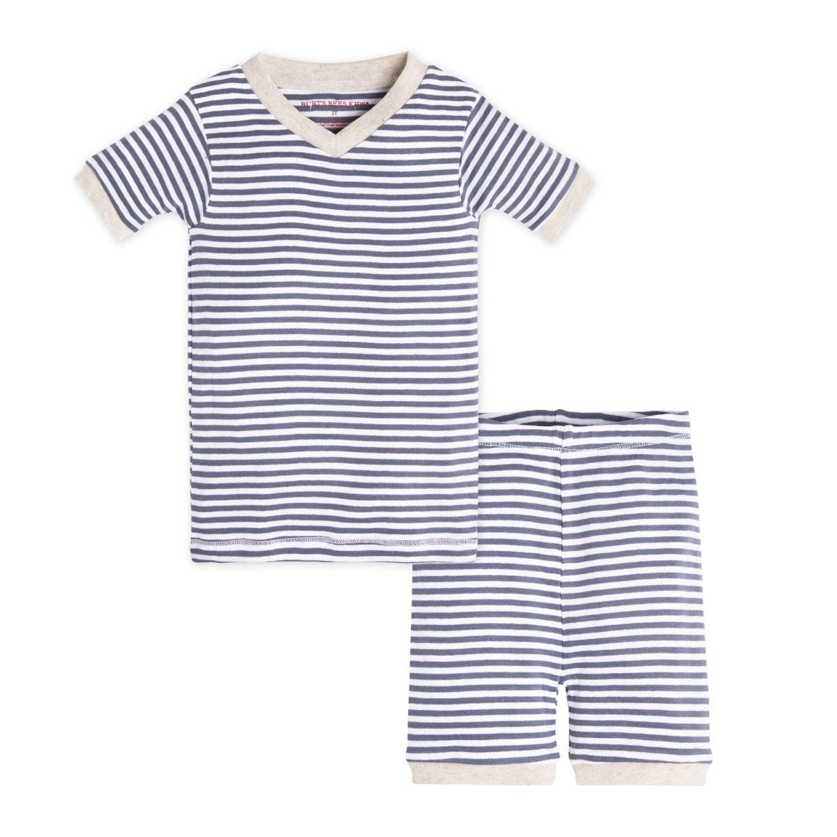 311eb0da4 Striped Organic Short Sleeve Toddler Pajamas