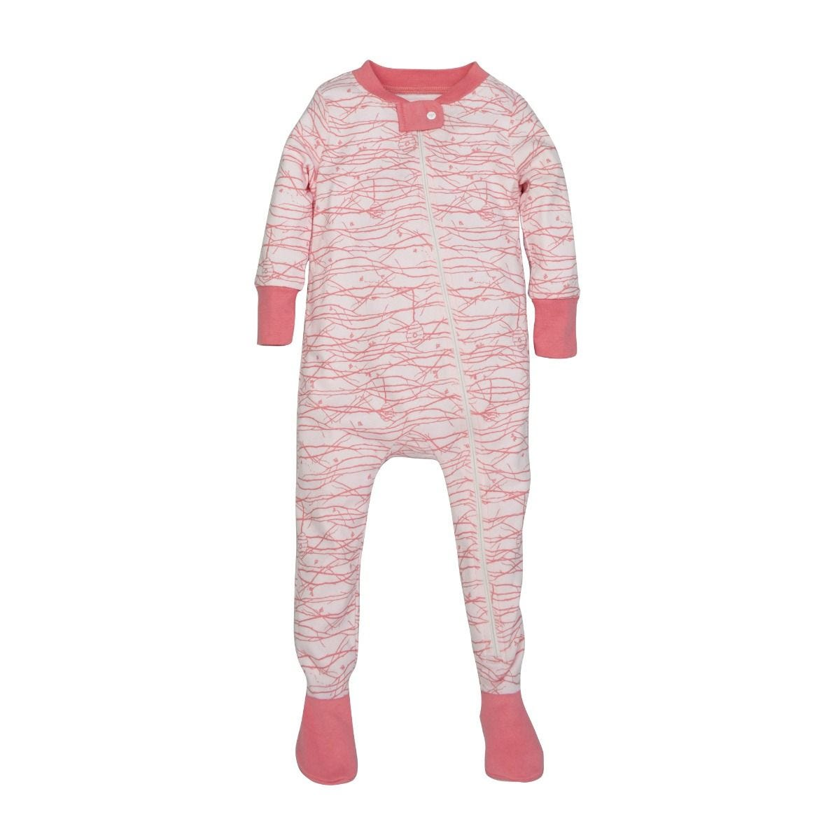 1e6a3ea7886a Autumn Tree Organic Baby Zip Up Footed Pajamas