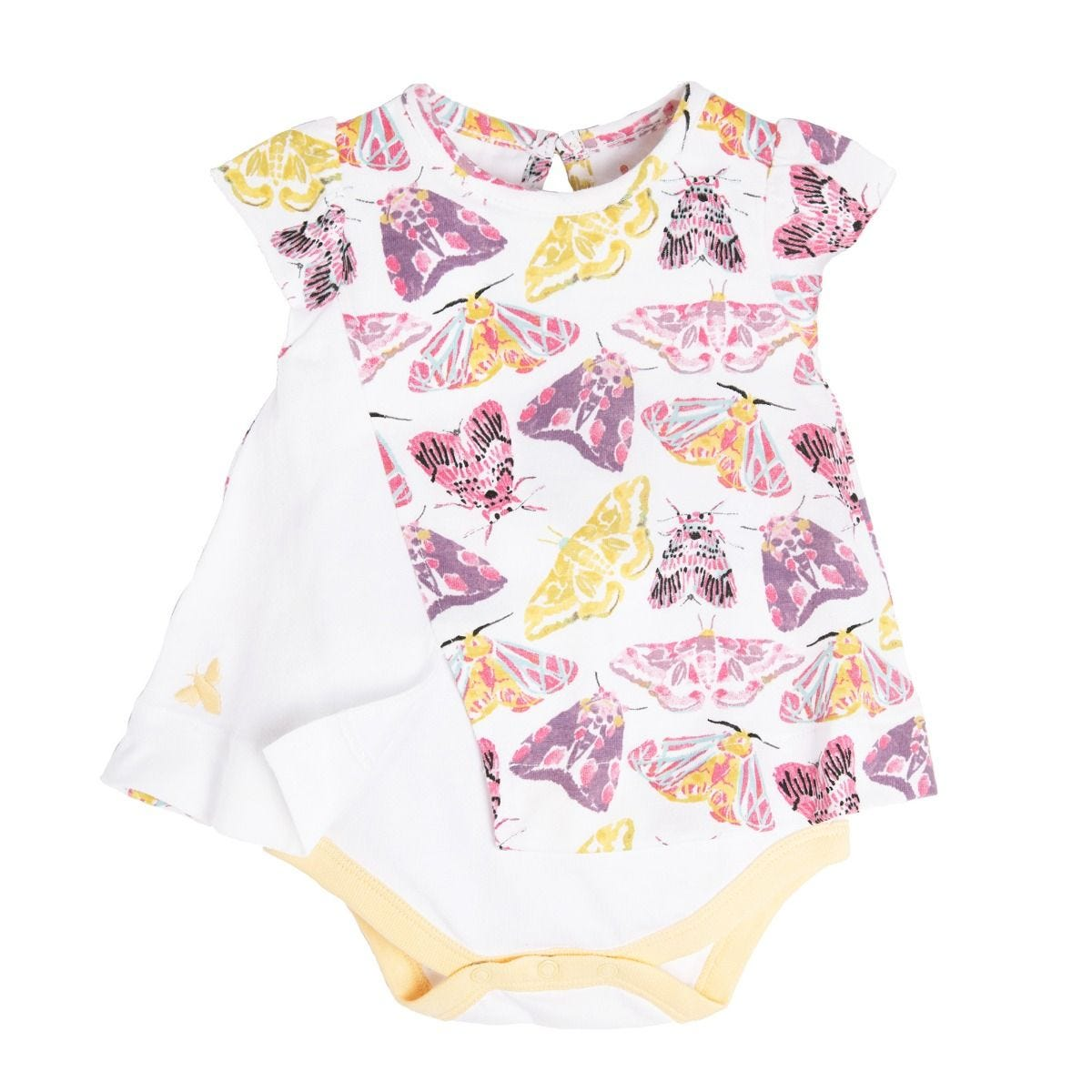 6d91eb042 Desert Moths Organic Baby Bodysuit Dress
