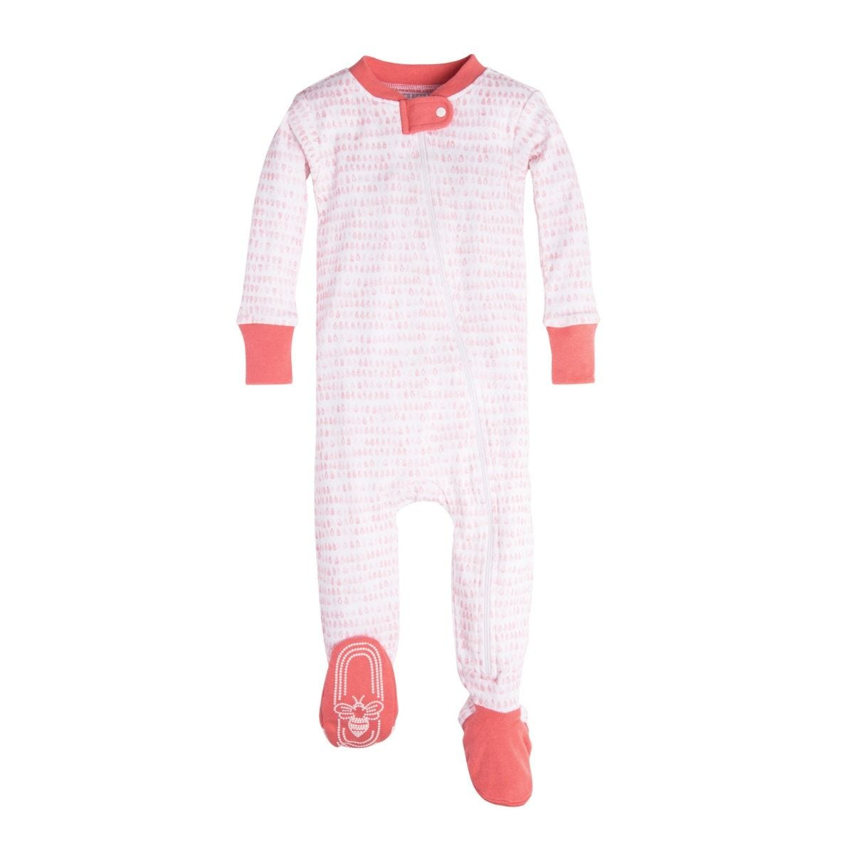 536581a3414c Dew Drop Organic Baby Zip Up Footed Pajamas