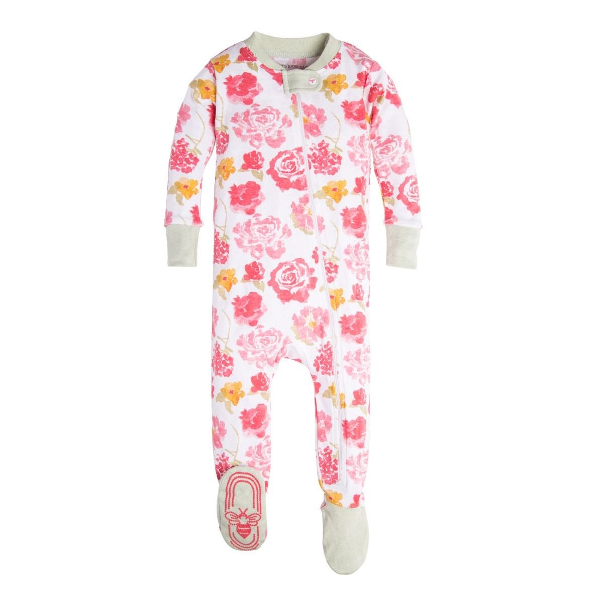 e98bbfa7418d Rosy Spring Organic Baby Zip Up Footed Pajamas