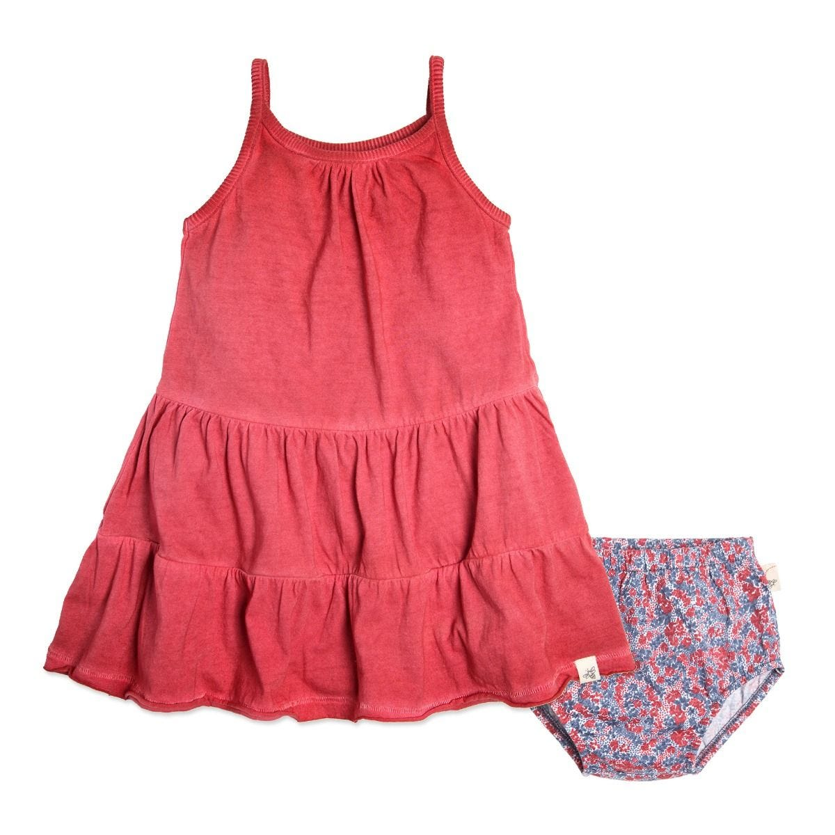 4b17a951336c Pigment Dyed Organic Baby Dress   Diaper Cover Set