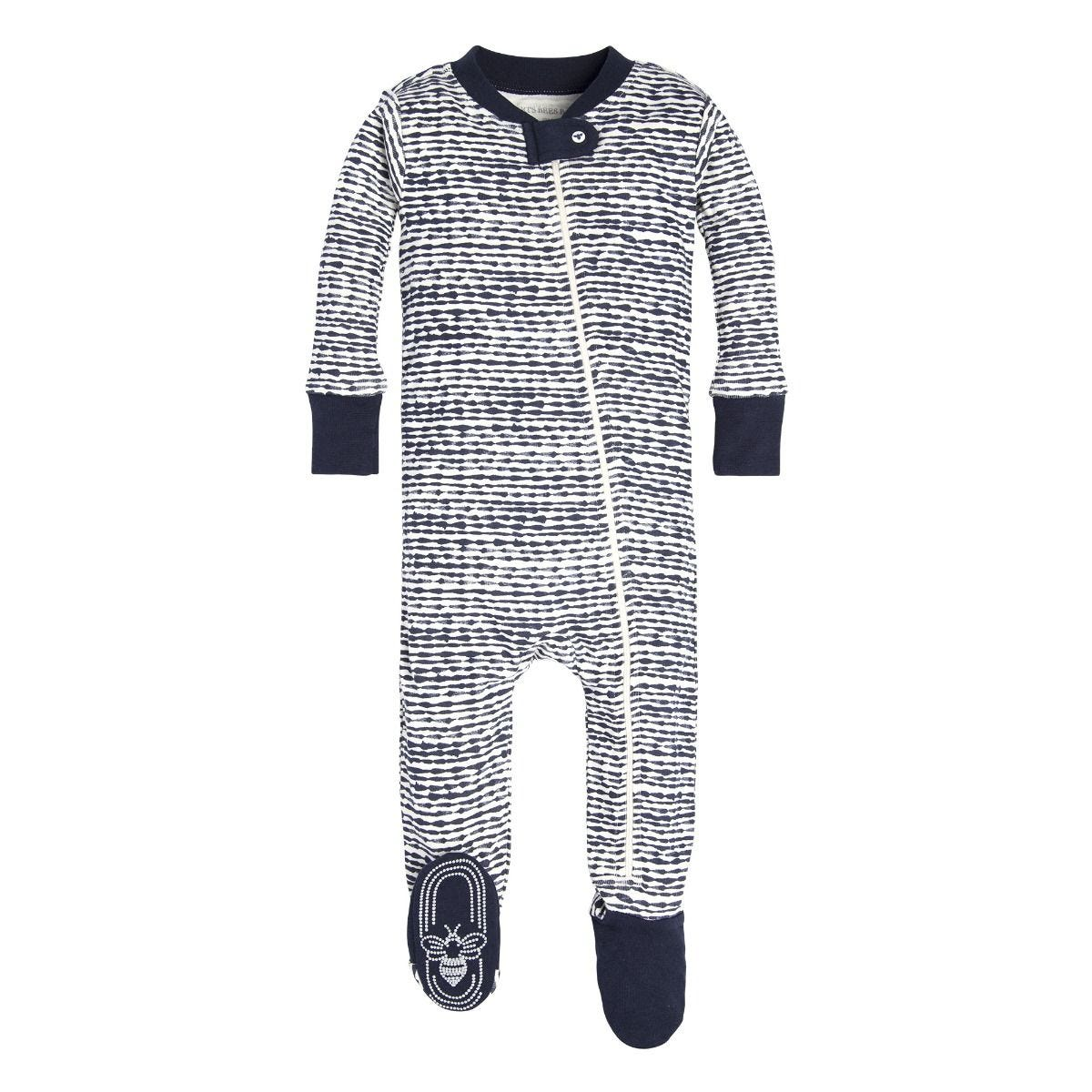 a062fa6b5 Brush Strokes Organic Baby Zip Up Footed Pajamas