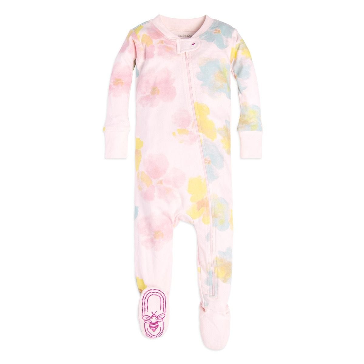39d15d3a0b Morning Dew Organic Zip Up Footed Baby Pajamas