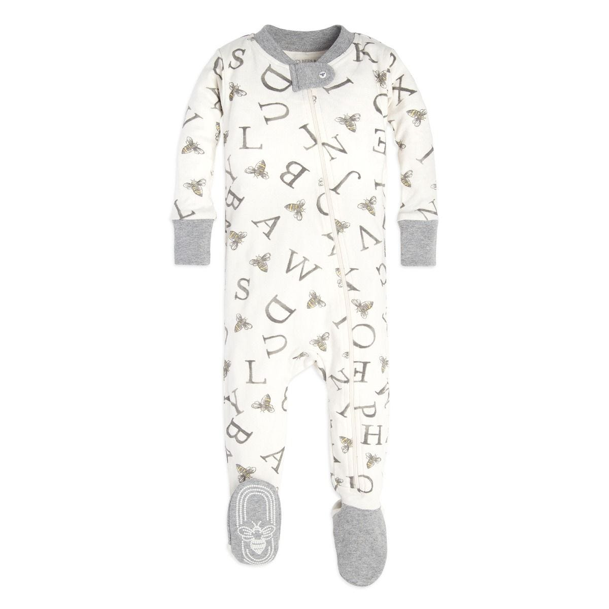 db39e3e0a3fe A-Bee-C Organic Baby Zip Up Footed Pajamas