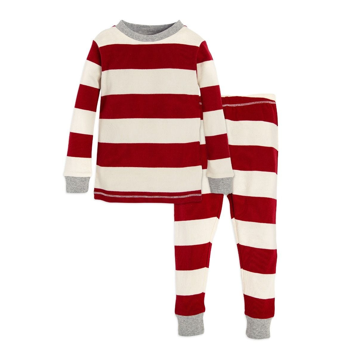 32dc03a22 Rugby Stripe Organic 2-piece Baby Holiday Matching Pajamas