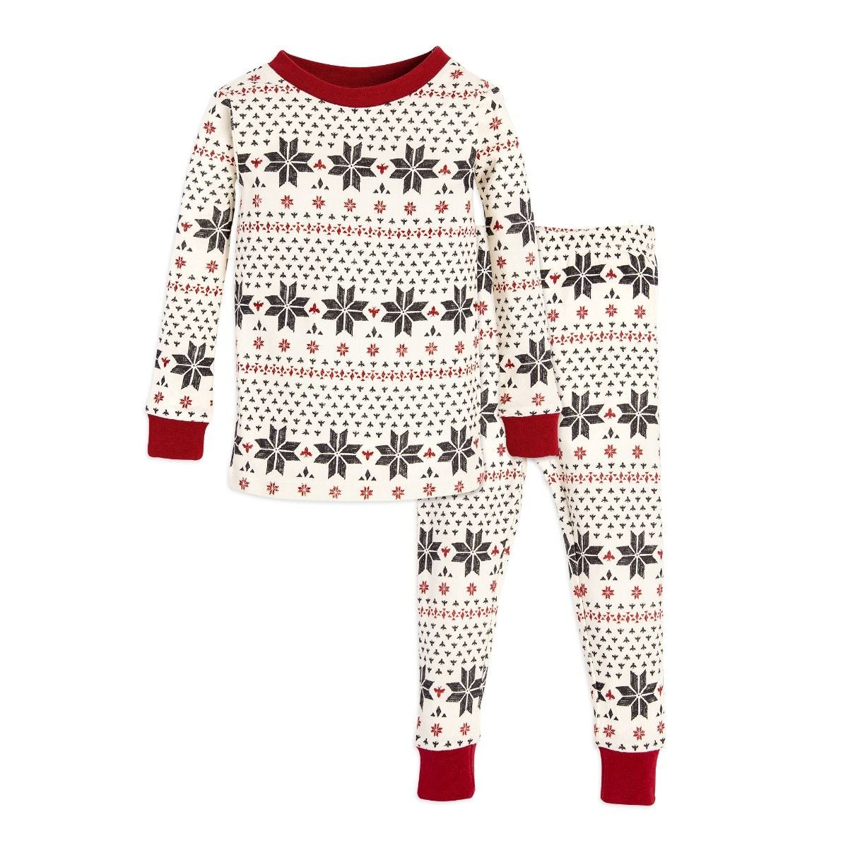 8689f6486344 Hand Drawn Snowflakes Organic 2-piece Baby Holiday Matching ...
