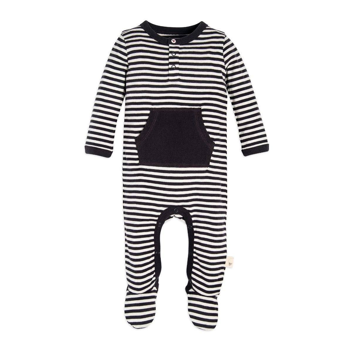 bcaab598d Candy Cane Stripe Footed Organic Baby One Piece Jumpsuit   Hat
