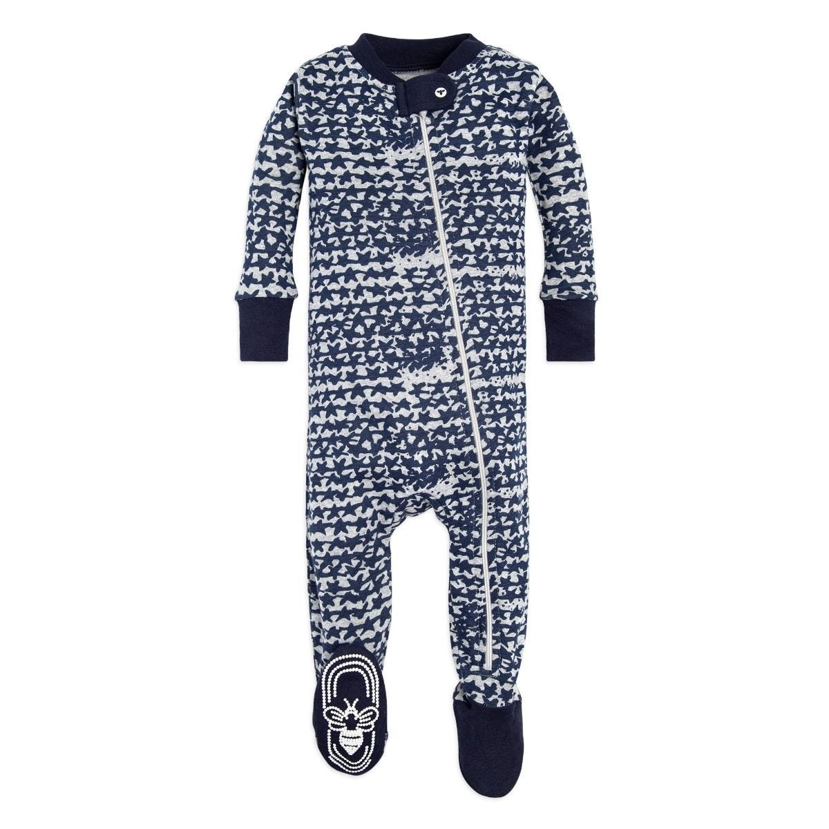 e1c9b5c49 Clustered Star Organic Baby Zip Up Footed Pajamas