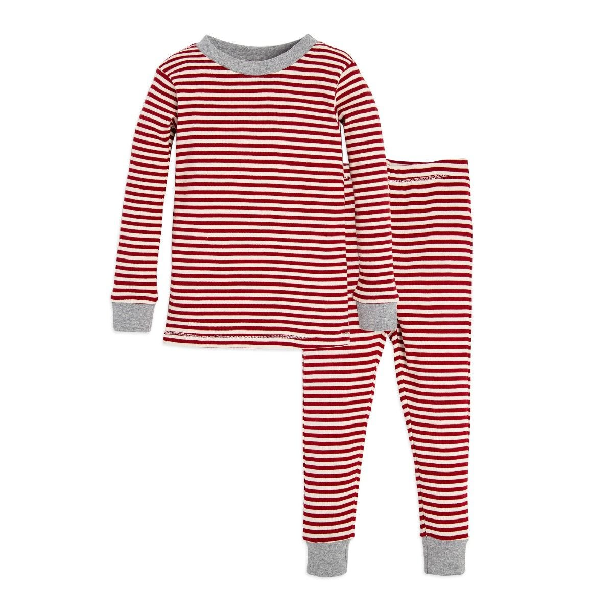 Candy Cane Stripe Organic Toddler Holiday Matching Pajamas c8359b946