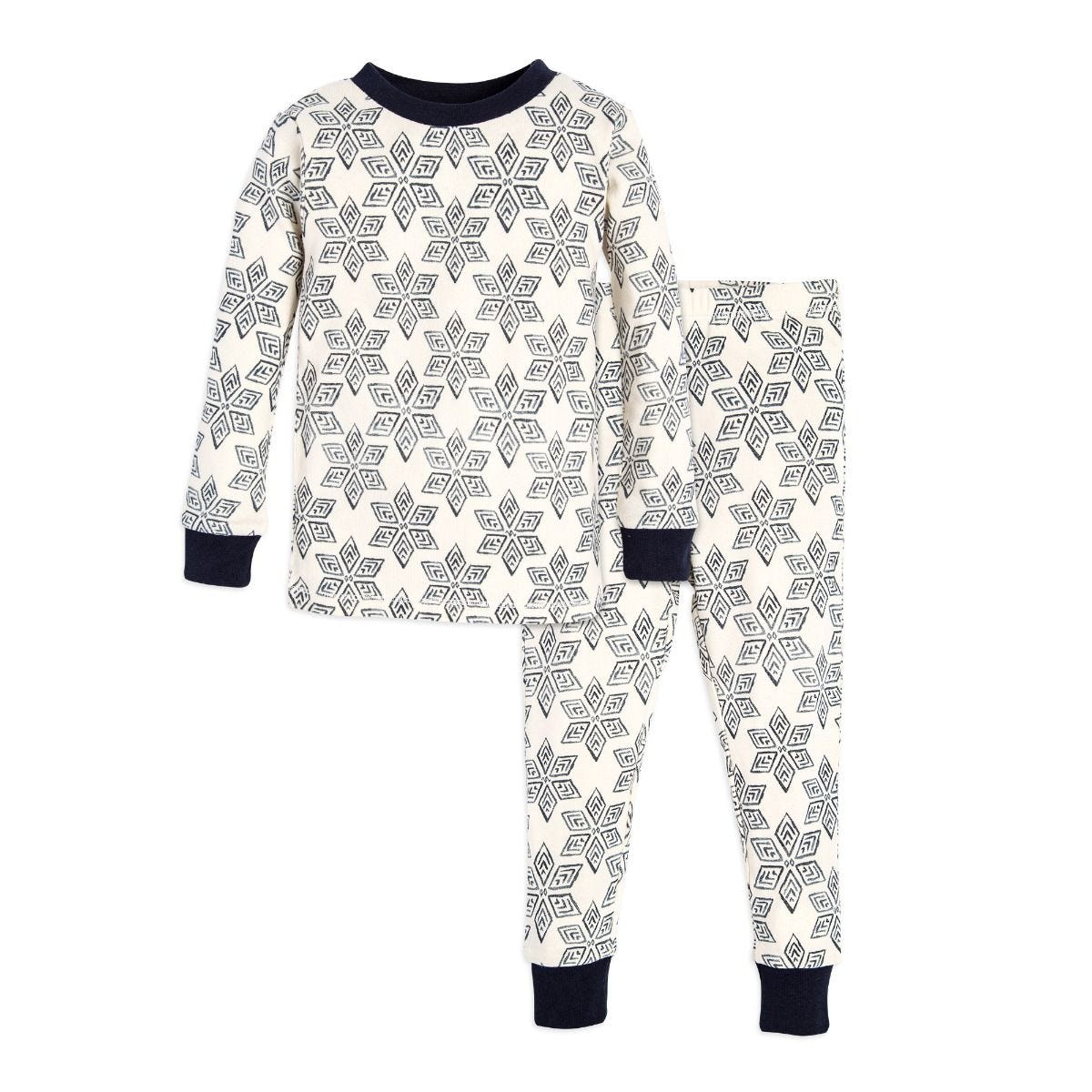 Arctic Snowflakes Organic Toddler Holiday Matching Pajamas