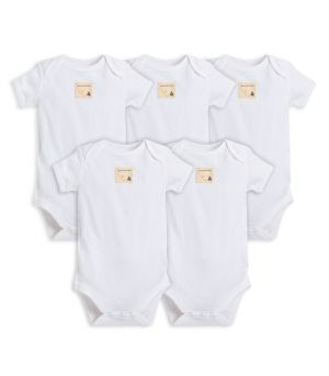 a9cfa410e Bee Essentials Organic Short Sleeve Baby Bodysuit 5 Pack