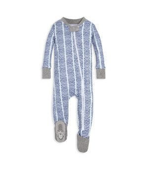 944b28ad1e Watercolor Chevron Organic Baby Zip Up Footed Pajamas