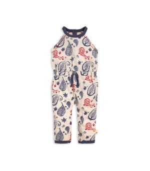 c40d64119 Painted Paisley Halter Organic Baby Girl Jumpsuit