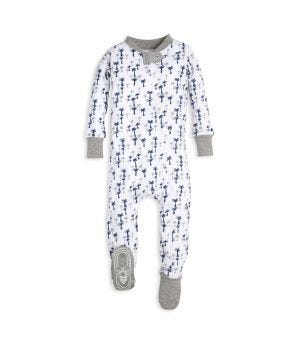 Breezy Palm Tree Print Organic Baby Zip Up Footed Pajamas 1dfdc9f1f