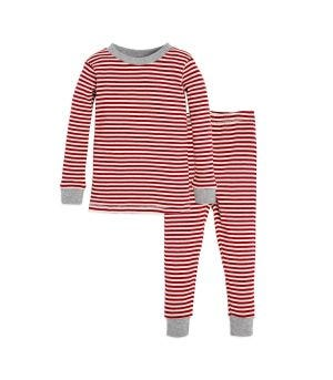 6d8a9afd12 Candy Cane Stripe Organic 2-piece Baby Holiday Matching Pajamas