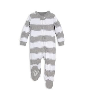 c63c369a20 Rugby Stripe Organic Baby Sleep   Play Pajamas