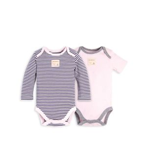 f801a1257 Set of 2 Classic Stripe Organic Baby Bodysuits