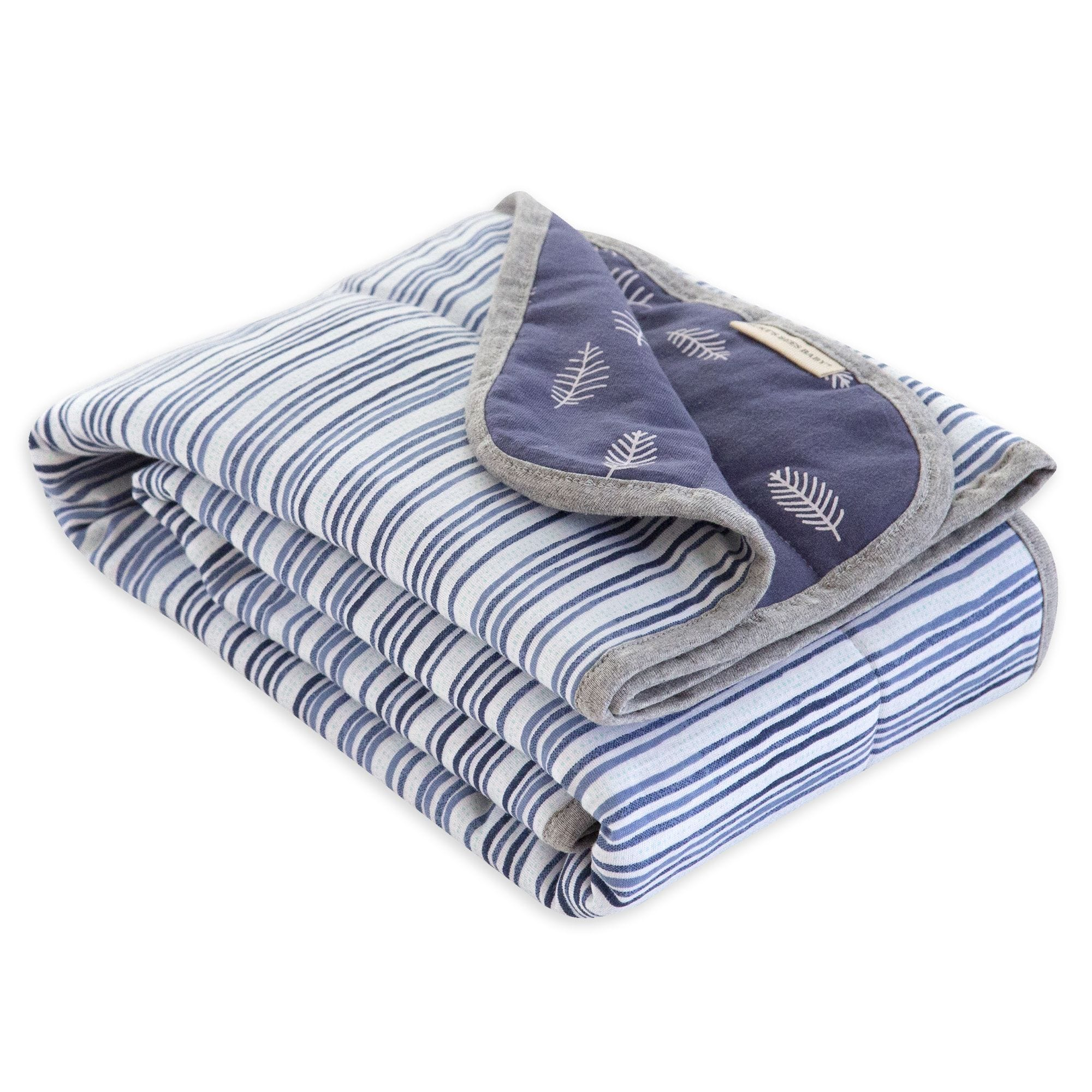 f93906787 Watercolor On the Road Stripe Jersey Knit Organic Reversible Baby Blanket