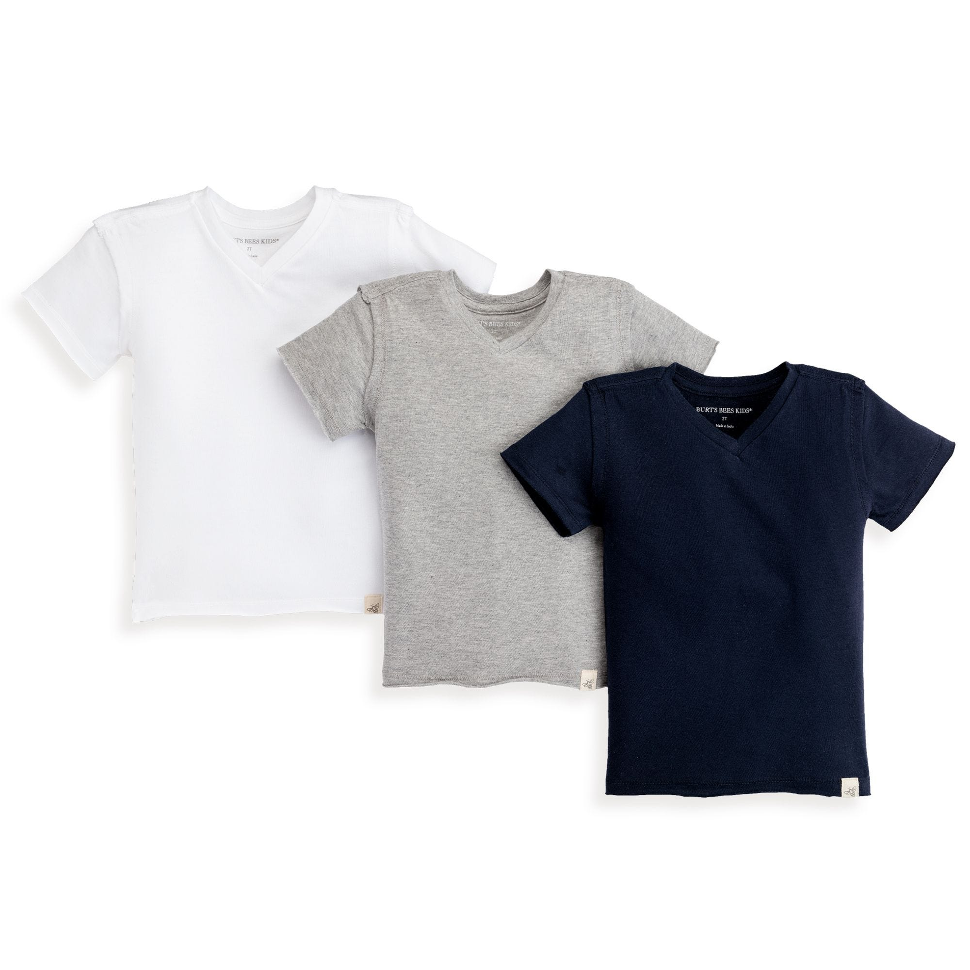 bc3651c4154 Solid V-Neck Organic Toddler Boys Tees 3-Pack