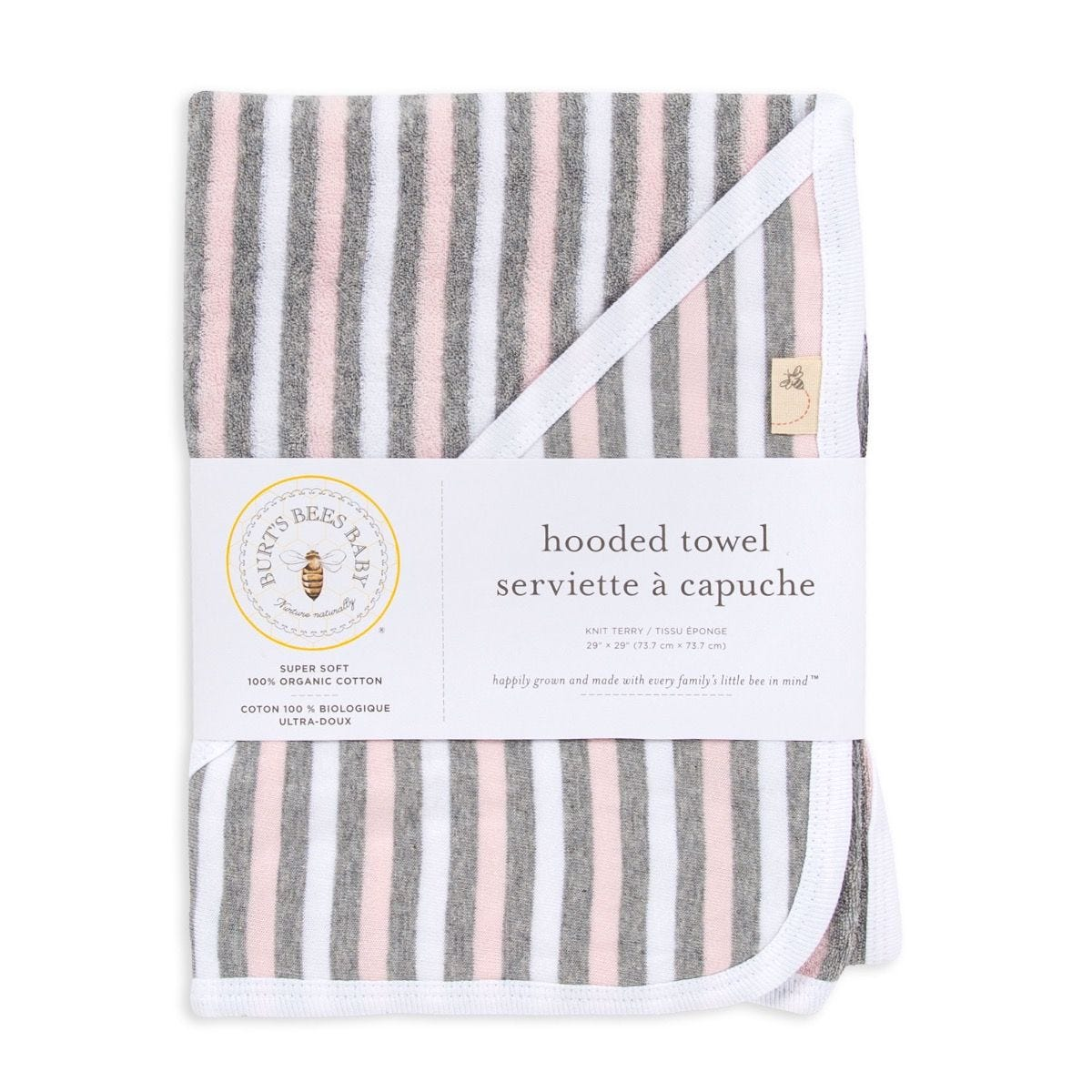 Striped Organic Baby Hooded Towel
