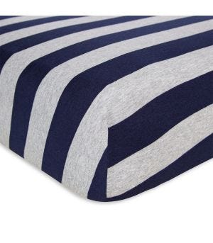 Burt/'s Bees Baby Organic Cotton Fitted Jersey Crib Sheet Leafy Plants GLACIER