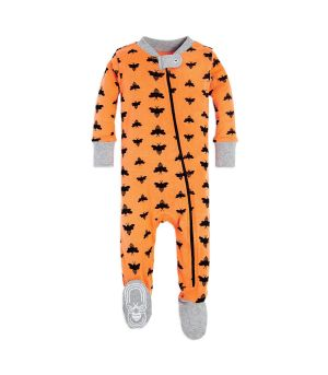 cloud bee organic zip up footed baby halloween pajamas