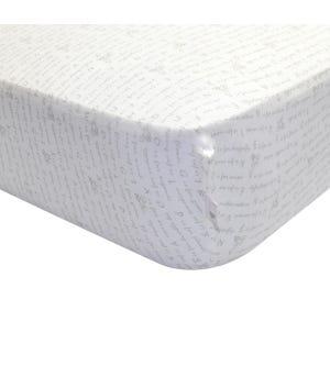 Alphabet Bee Organic BEESNUG? Fitted Crib Sheet - Heather Grey - Crib