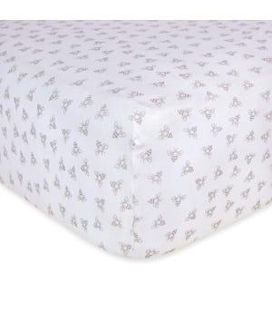 Honeybee Organic BEESNUG® Fitted Crib Sheet - Heather Grey - Crib